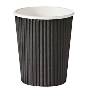 Keji Double Wall Paper Cups 227mL Black 500 Pack