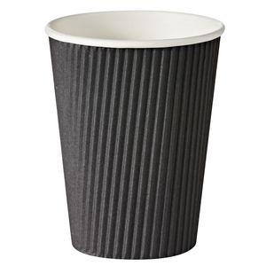 Keji Double Wall Paper Cups 340mL Black 500 Pack