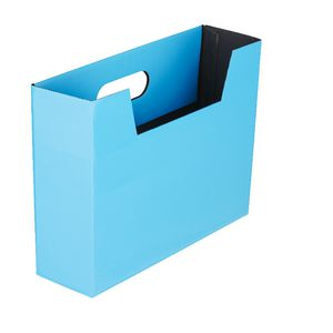 Collapsible Cardboard Document Holder Blue