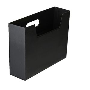 Collapsible Cardboard Document Holder Black