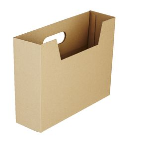 Collapsible Cardboard Document Holder Kraft