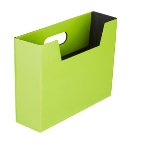 Collapsible Cardboard Document Holder Lime