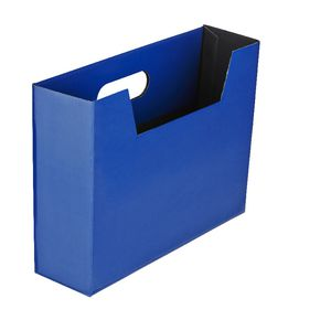 Collapsible Cardboard Document Holder Navy
