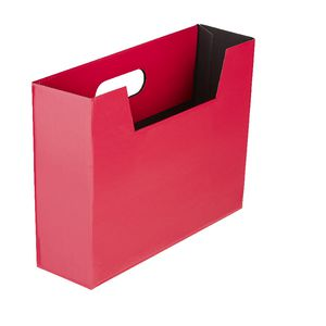 Collapsible Cardboard Document Holder Pink