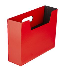 Collapsible Cardboard Document Holder Red