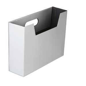 Collapsible Cardboard Document Holder Silver
