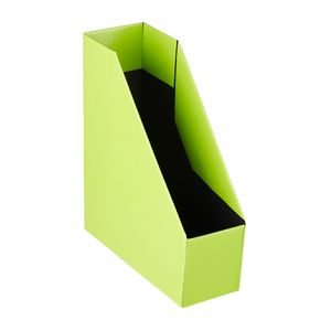 Collapsible Cardboard Magazine File Lime