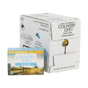Country Life Fresh Linen Soap 8 x 5 Pack