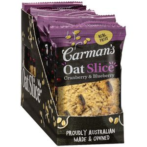 Carman's Oat Slice Cranberry and Blueberry 70g 12 Pack