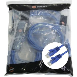 Comsol RJ45 Cat 6 Patch Cable 50cm Blue 24 Pack