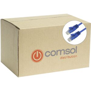 Comsol RJ45 Cat 5e Patch Cable 1m Blue 48 Pack