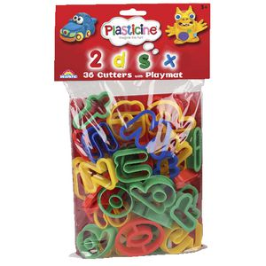 Plasticine Cutters Alphabet and Numbers