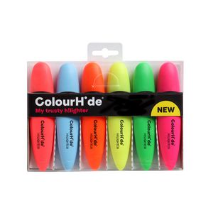 ColourHide Highlighters Assorted 6 Pack