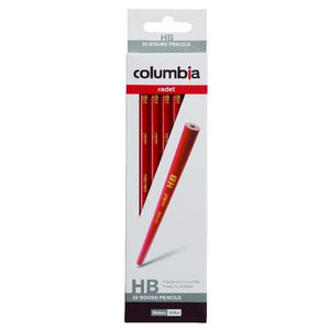 Columbia Cadet Pencil HB Round 20 Pack