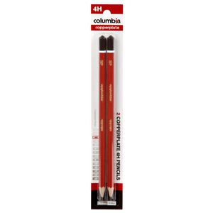 Columbia Copperplate Lead Pencil 4H Hexagonal 2 Pack