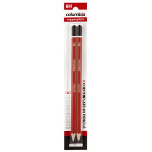 Columbia Copperplate Lead Pencil 6H Hexagonal 2 Pack