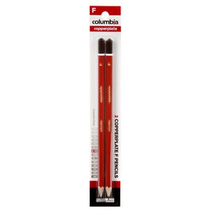 Columbia Copperplate Lead Pencil F Hexagonal 2 Pack