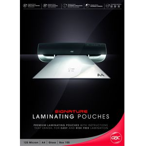 GBC A4 Laminating Pouch 125 Micron Gloss 100 Pack