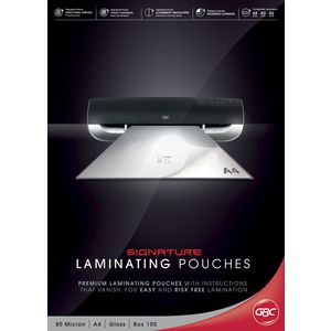 GBC Laminating Pouch A4 80 Micron Gloss 100 Pack