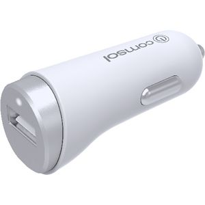 Comsol 2.4A Single Port Car Charger Silver