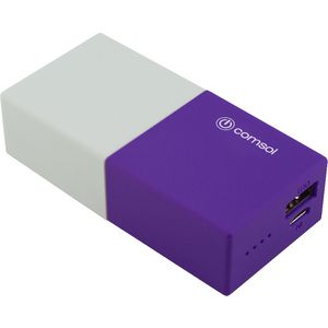 Comsol 4400mAh Powerbank Purple/White