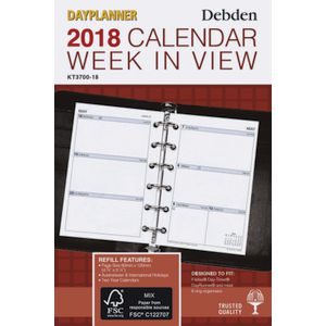 Collins Debden 2018 Weekly Pocket Planner
