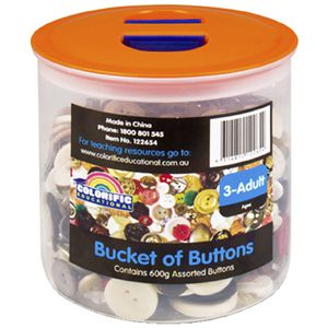 Colorific Bucket of Buttons 500g