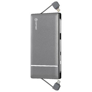 Comsol 3000mAh Integrated Lightning/Micro USB Powerbank Grey