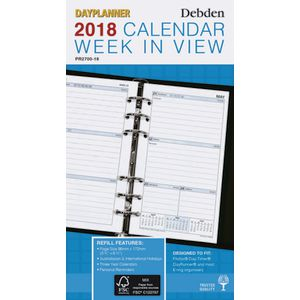 Collins Debden 2018 Weekly Personal Edition Planner
