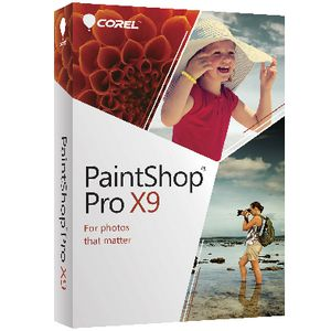 Corel PaintShop Pro X9 Windows Box