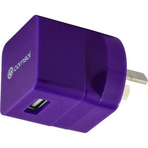 Comsol Single Port USB Wall Charger 1A/5W Purple