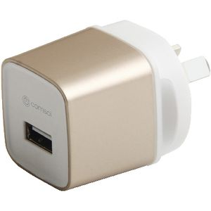 Comsol Single Port USB Wall Charger 2.4A Gold