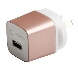 Comsol Single Port USB Wall Charger 2.4A Rose Gold