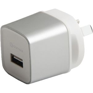 Comsol Single Port USB Wall Charger 2.4A Silver