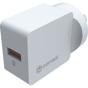Comsol Single Port USB Wall Charger White
