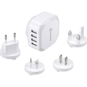 Comsol 4 Port Universal USB Travel Charger 4.5A/22W White