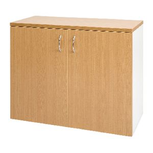 Velocity 900mm Buffet Golden Beech and White