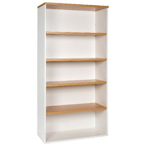 Velocity 1800mm Bookcase Golden Beech and White