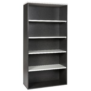 Velocity 1800mm Bookcase White and Ironstone | Tuggl