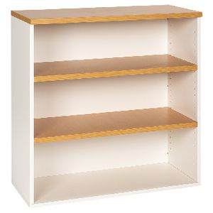 Velocity 900mm Bookcase Golden Beech and White