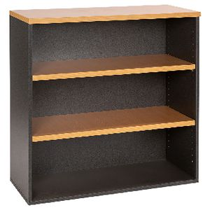Velocity Bookcase 900mm Golden Beech and Ironstone Grey ...