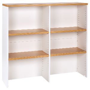 Velocity 1200mm Hutch Golden Beech and White
