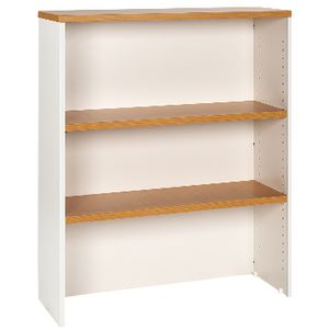 Velocity 900mm Hutch Golden Beech and White
