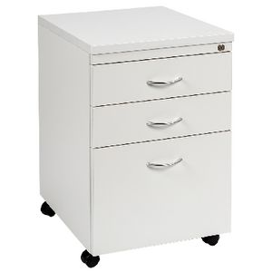 Velocity 3 Drawer Pedestal White