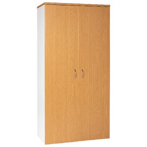 Velocity 1800mm Storage Cupboard Golden Beech and White