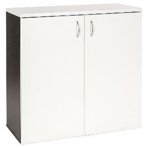 Velocity 900mm Storage Cupboard White and Ironstone
