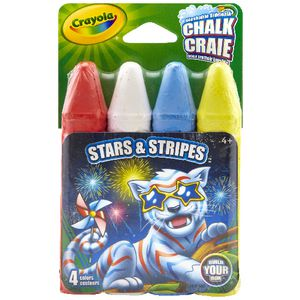 Crayola Stars and Stripe Chalk 4 Pack