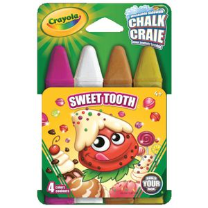 Crayola Sweet Tooth Sidewalk Chalk 4 Pack