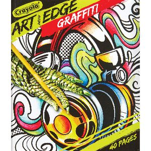 Crayola Art with Edge Colouring Book 40 Page Graffiti