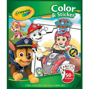 Crayola Color N Sticker Book Paw Patrol Theme